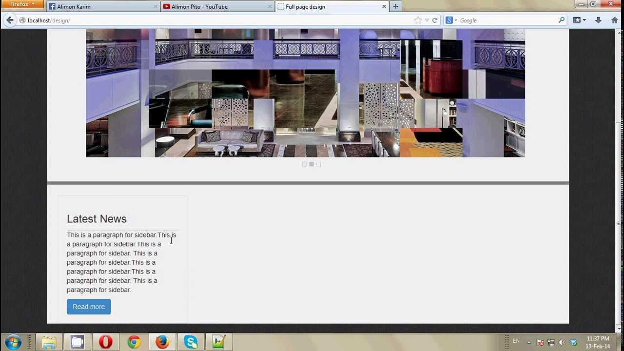 Full Web Page Design Step By Step Bangla Tutorial