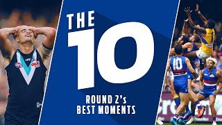 The 10: Best moments | Round 2, 2018 | AFL