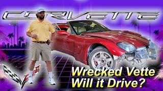 I bought a Wrecked Auction Corvette - Will it RUN AND DRIVE?