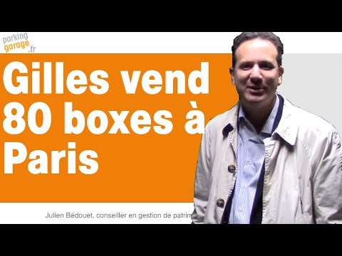 Acheter des garages à Paris est un bon investissement locatif selon Gilles