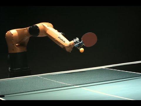 老外发明乒乓球机器人,能精确预测运动轨迹,打得过中国小学生吗