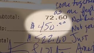 Server Gets $450 Tip From Trump Supporter As Gesture Of Unity