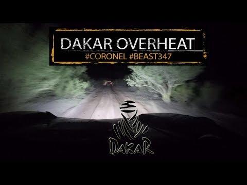 Dakar 2018 stage 10 overheating in the desert with Coronel