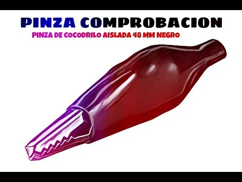 Video de Pinza de cocodrilo aislada 48 mm Negro