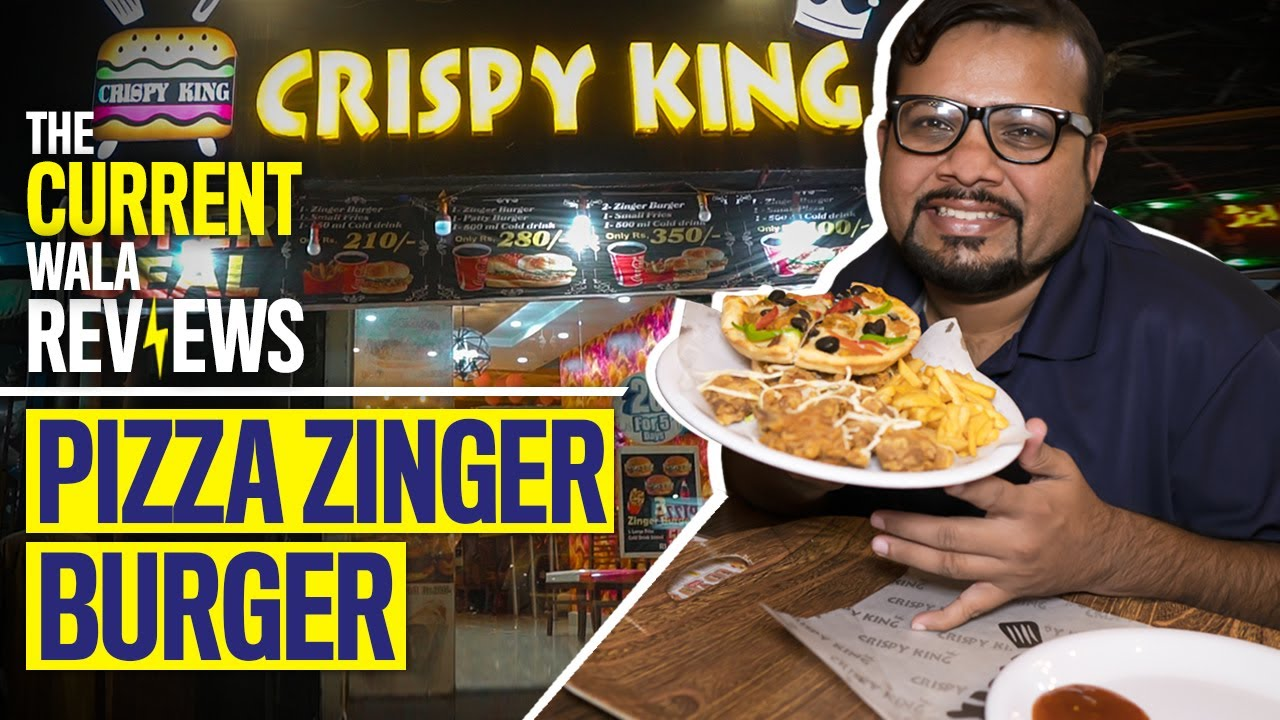 Pizza Zinger Burger   The CurrentWala review