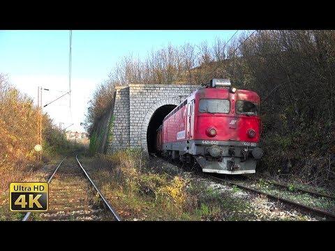 Rail traffic in Serbia - Belgrade Railway Junction [4K]