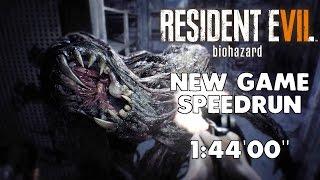 """Resident Evil 7 - Any% Speedrun - 01:44:00"""" [World Record]"""