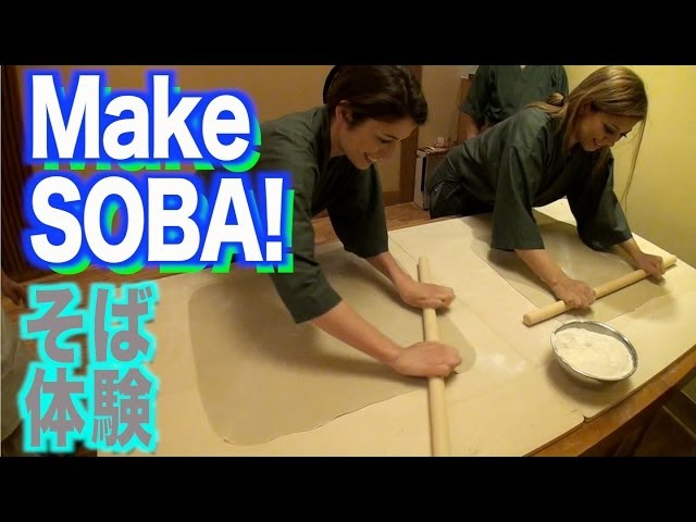 A shop where you can make your own soba「自分で蕎麦作ってみた」Girls' Japanese night life.36-1
