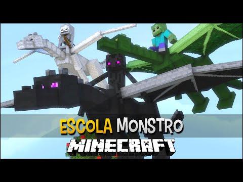 Minecraft Escola Monstro 20 - Como Treinar Seu Dragão   Monster School
