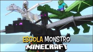 Minecraft Escola Monstro #20 - Como Treinar Seu Dragão !!  Monster School