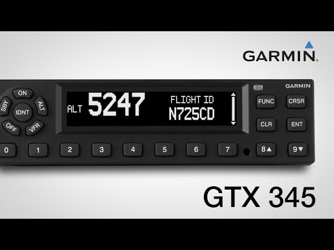 Using the Garmin GTX 345 Series All-in-one ADS-B Transponders