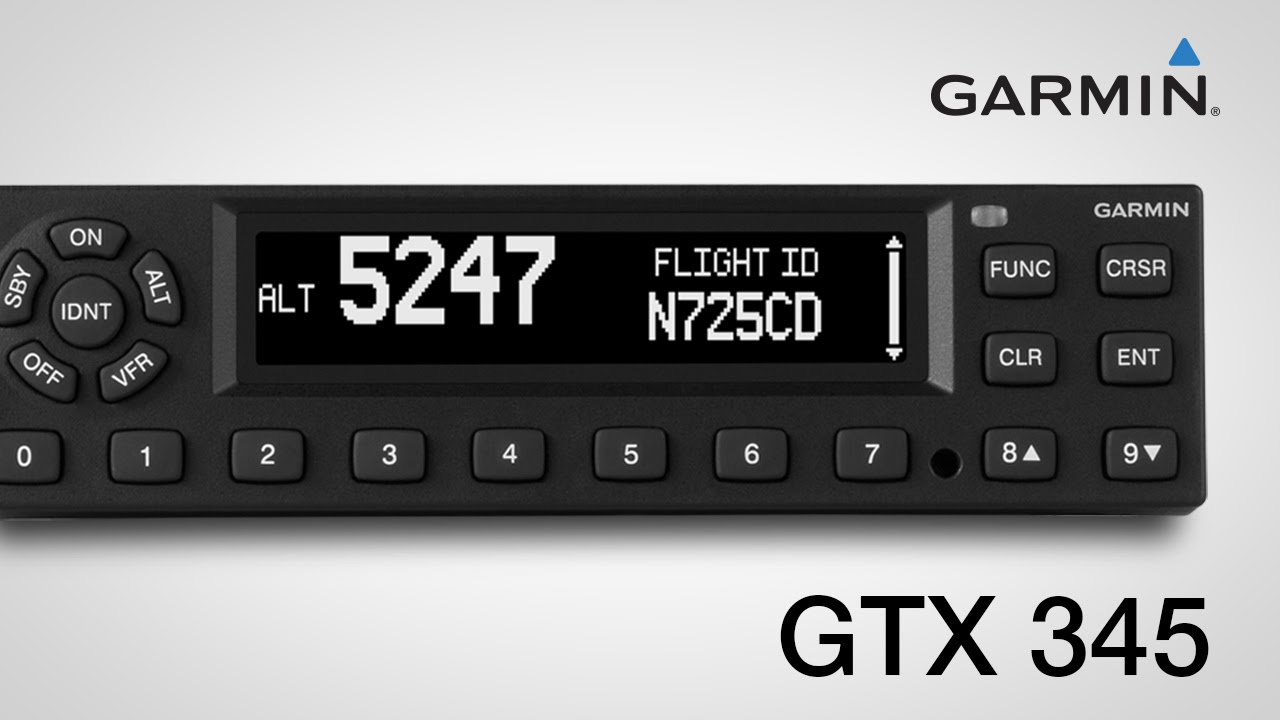Using the Garmin GTX 345 Series All-in-one ADS-B Transponders on