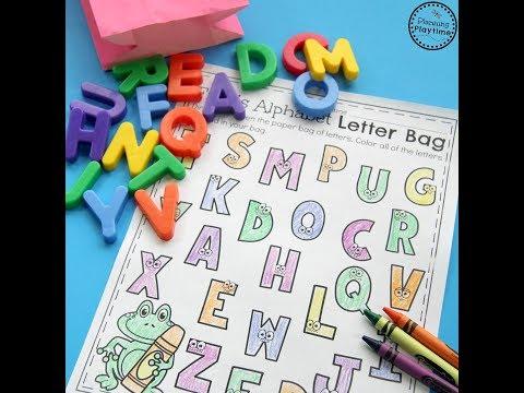 Preschool Letter Recognition Activity
