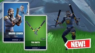 NEW BRAVO LEADER Skin and TAC BATS Gameplay in Fortnite!