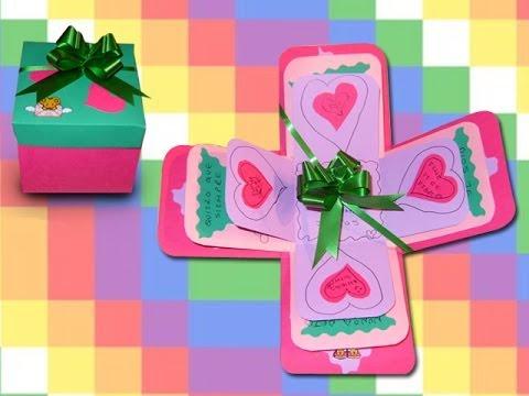 San Valentín DIY Preciosa Carta / Caja - YouTube