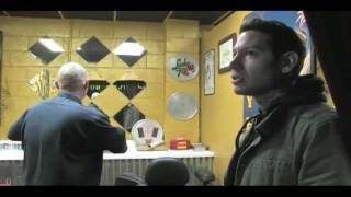 Daniel (junes not faking) getting tattooed by Mike (MxPx)