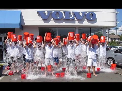 Volvo of Westport, Conn. completes the Ice Bucket Challenge and donates a car to the ALS Foundation.