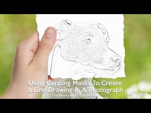 Using Clipping Masks To Create a Line Drawing In A Photograph