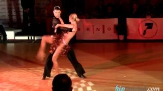 Miha Vodicar - Nadiya Bychkova, Brno Open 2012, WDSF int. open latin, final - paso doble