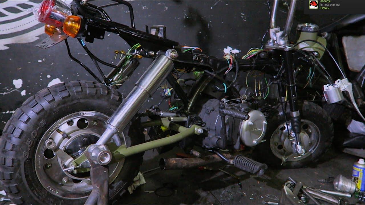 MotoVLog Bikin Honda Monkey Sendiri Part 2 YouTube