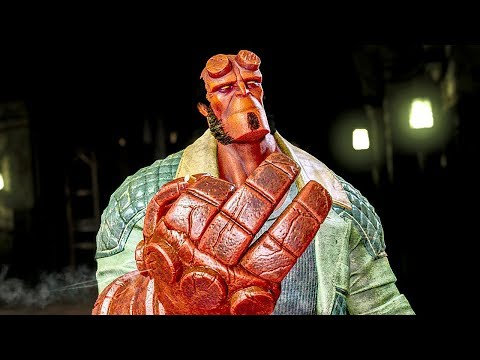 INJUSTICE 2 Hellboy All Intros Dialogue Character Banter 1080p HD