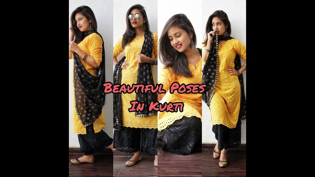 Simple & Beautiful Poses in Kurti for girls | Being Navi | Vaishnavi Naik