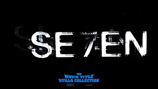 Title sequence from Se7en (1995), designed by Kyle Cooper Help me m...