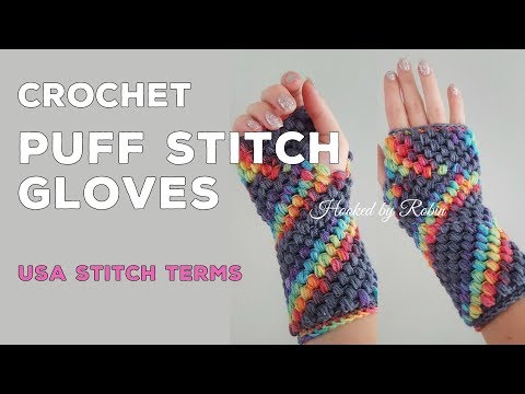 Puff Stitch Fingerless Gloves (soft Texture!) Easy Crochet Tutorial