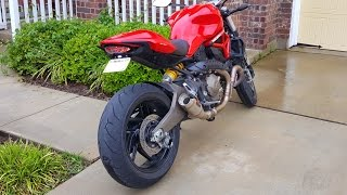Ducati Monster 821 Mods - Exhaust, Tail Tidy, Integrated Tail Light & more