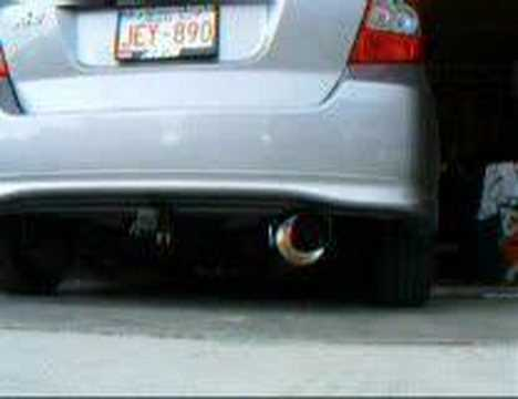 2007 honda fit with greddy ti c exhaust youtube. Black Bedroom Furniture Sets. Home Design Ideas