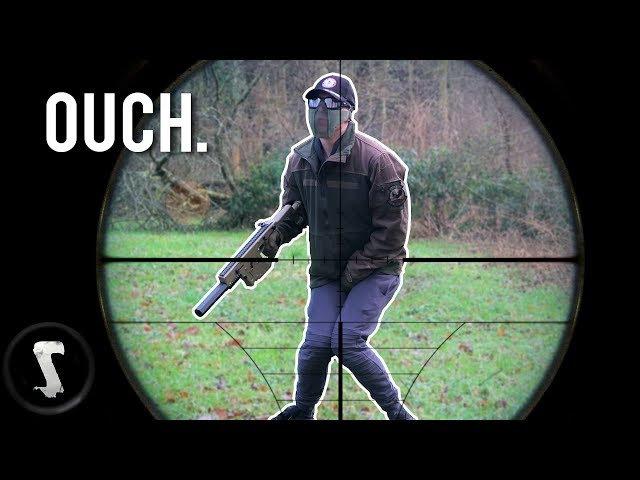 Airsoft CHEATER shot in the B*LLS with 500 FPS SNIPER