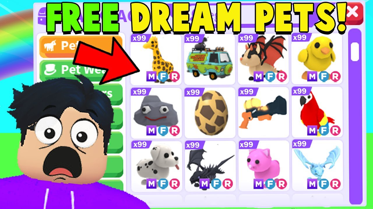 I got GIFTED Adopt Me DREAM PETS.. (WHO WANTS THEM)