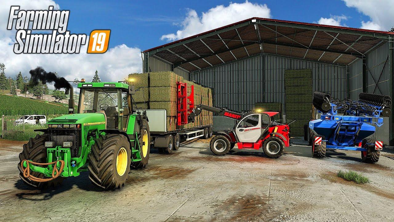 Farming Simulator 19 | Ultra Realistic | Buying New Farm, Storing hay bales & Seeding barley