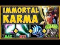 100% UNFAIR STRATEGY! INFINITE HEALING KARMA SURVIVES ANYTHING! KARMA TOP GAMEPLAY League of Legends