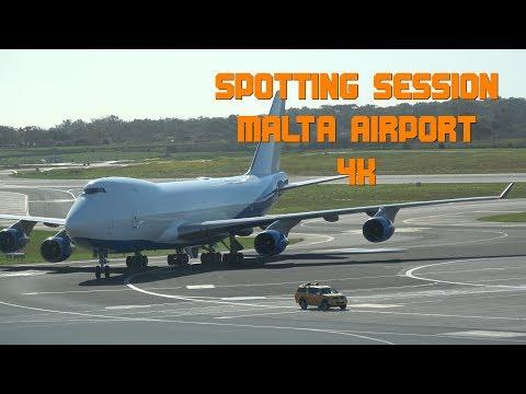 Malta Airport Spotting Session January 2018 4K