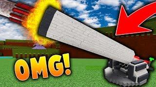 New *MASSIVE* Rocket Launcher Cannon! Roblox | Build A Boat For Treasure!