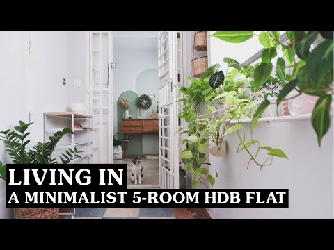 """Inside A Minimalist Cafe-Inspired HDB With A Unique """"Balcony"""" In Bedok 