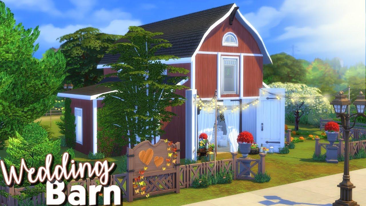 Barn Wedding Venue | Sims 4 Speed Build - YouTube