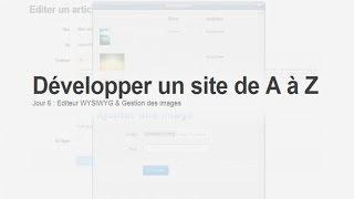 Tutoriel PHP : Développer un site : Jour 6, Editeur WYSIWYG