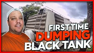 RV Living Full Time First Black Tank Dumping & Pressurizing Plumbing