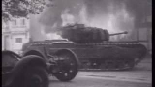 german SS tiger tank ace vs churchill in france WW2, Michael Wittmann