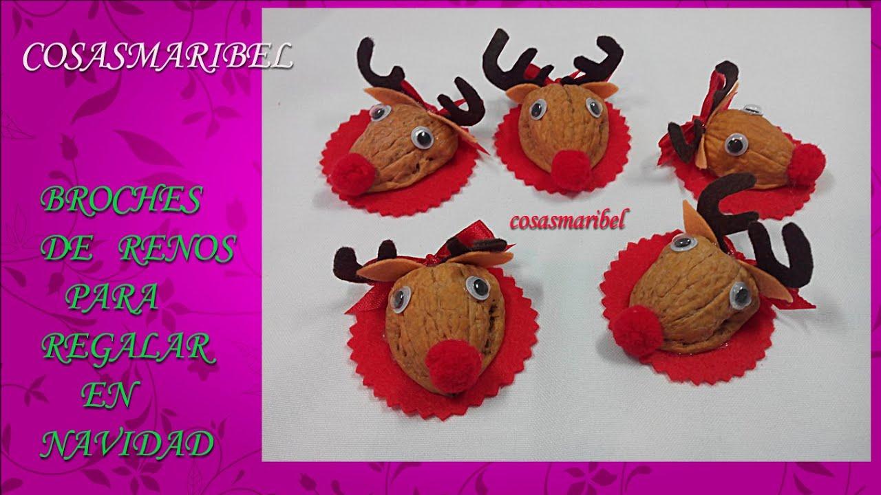 Manualidades navide as broche de reno detalles navide os - Detalles de navidad manualidades ...
