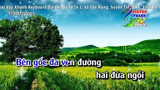 [Karaoke nhạc sống] Hương Tóc Mạ Non - Tone Nam