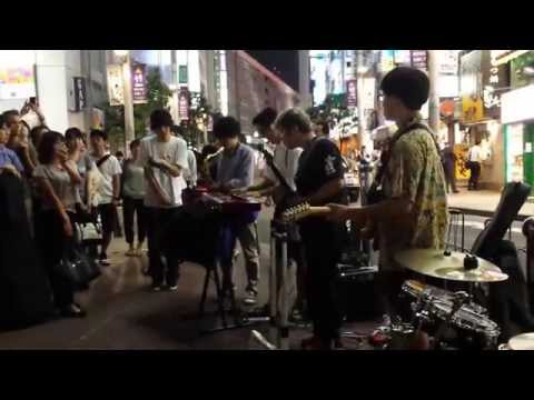 unknown song played by a band called umber session tribe (rojoufunk) in Shinjuku, Tokyo, Japan