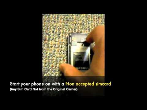 How to Unlock Samsung Galaxy Gio S5660 / S5660m  by Unlock Code Instructions & Guide