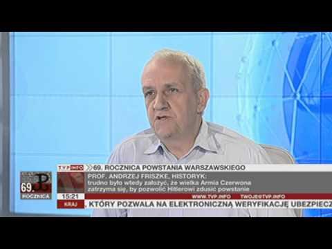 Prof. Andrzej Friszke o sporach wokół Powstania Warszawskiego (Rozmowa Dnia TVP Info, 01.08.2013)