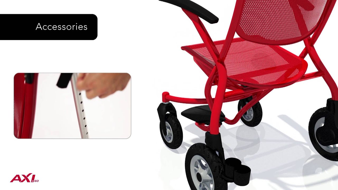 Walker Transport Chair In One Hugo Navigator White Bedroom Axi2go Wheelchair Dooclip