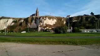 Красивый городок на берегу океана. Dieppe, France