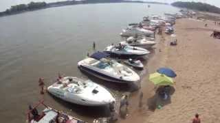 DRONE Mississippi River Sand Bar