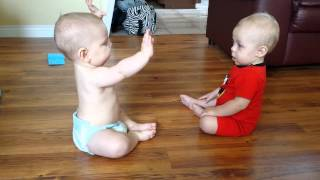 Babies talking to each other.